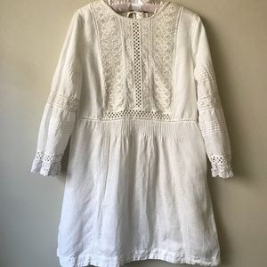 Free People Lace Peasant Dress